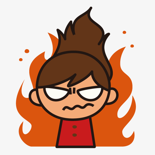 Girl png vectors psd. Anger clipart angry student