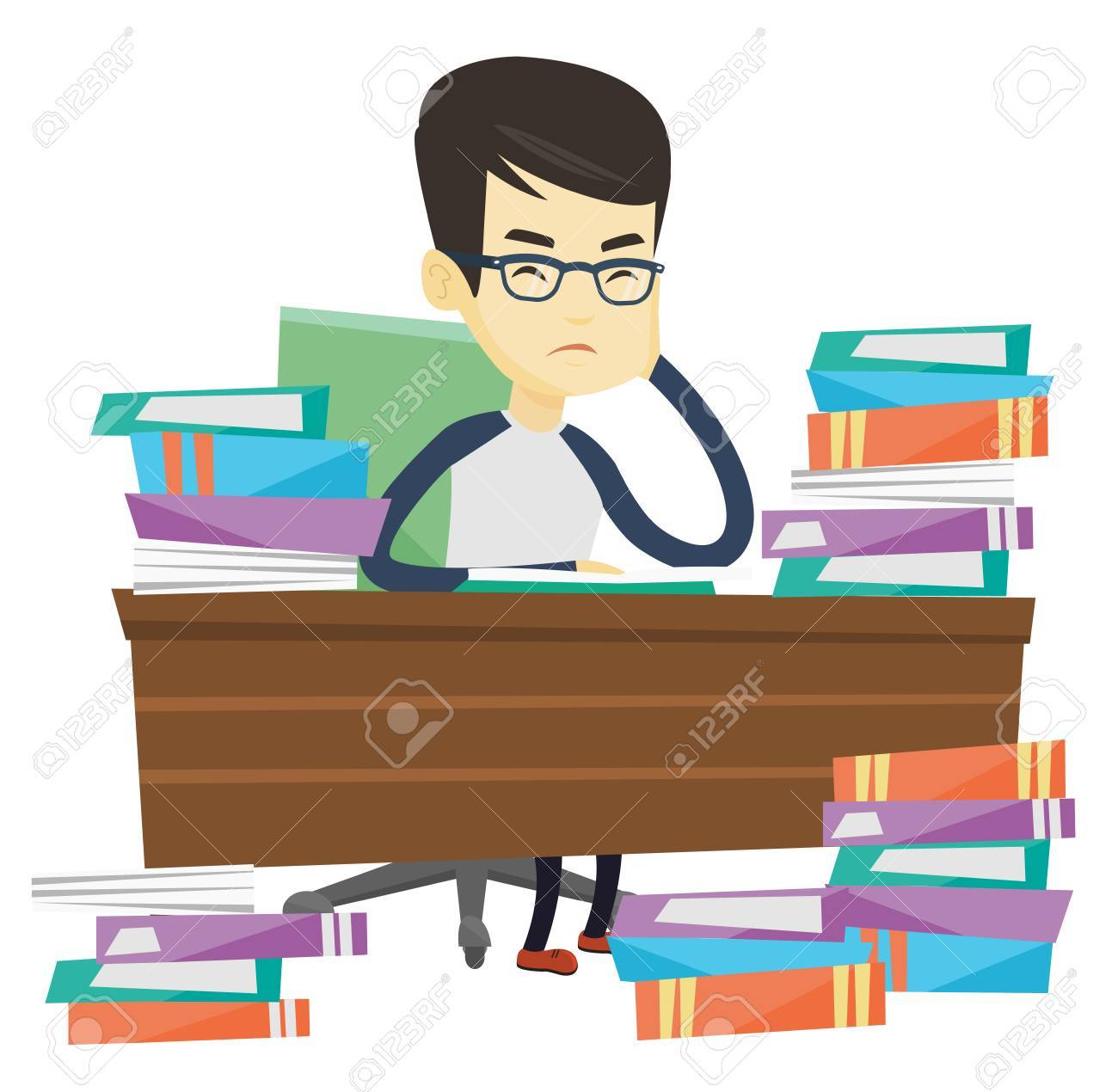 Annoyed clipartuse asian studying. Anger clipart angry student