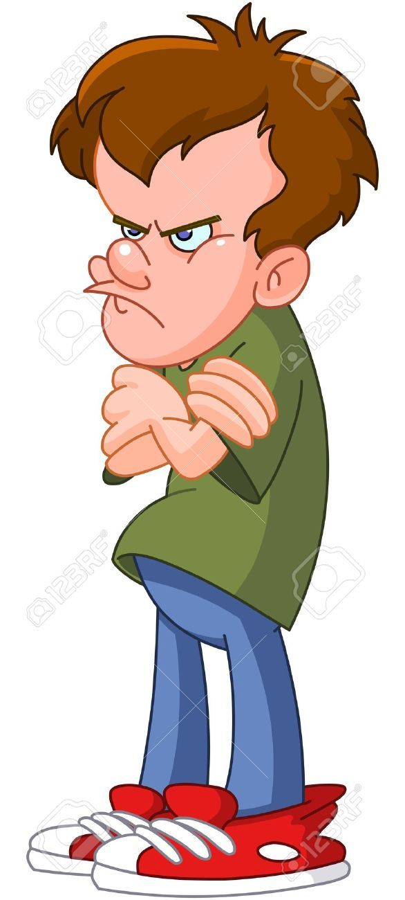 angry teenager cartoon. Anger clipart animated