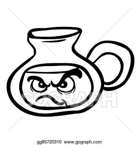 Anger clipart black and white. Vector stock angry lemonade