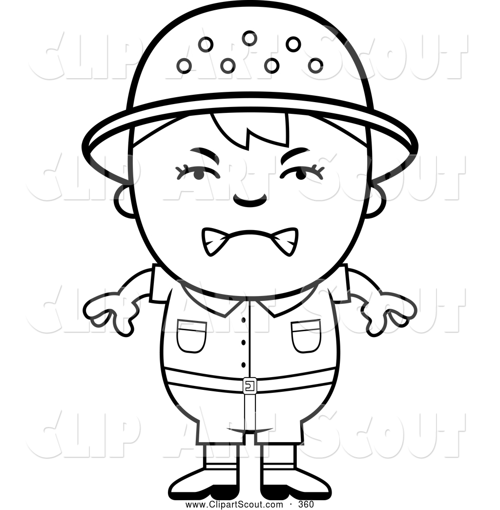 Angry clipart black and white. Of a upset safari