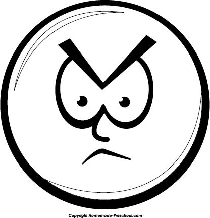 Angry panda free . Anger clipart black and white