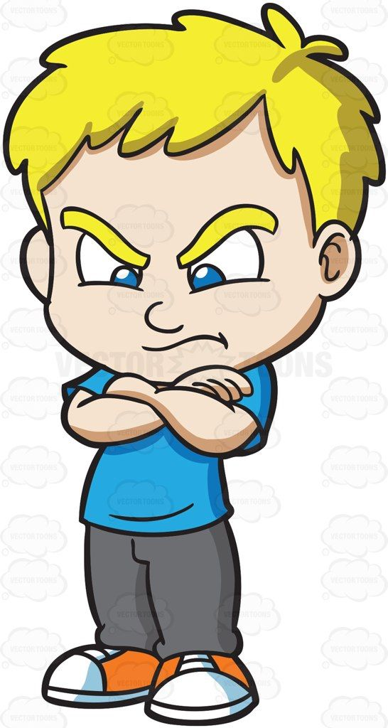 A mad and angry. Boys clipart upset