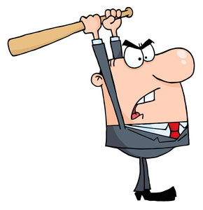Boss clipart baseball. Angry person cartoon image