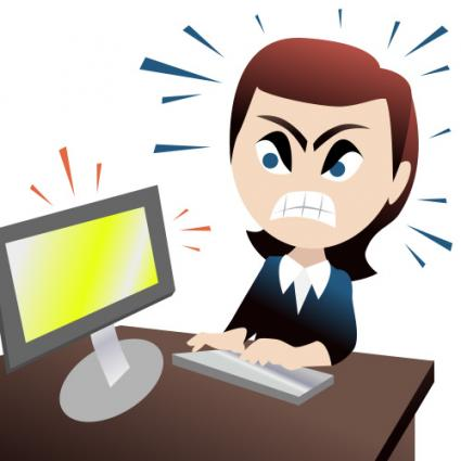 Stress clipart computer stress. Angry people clip art