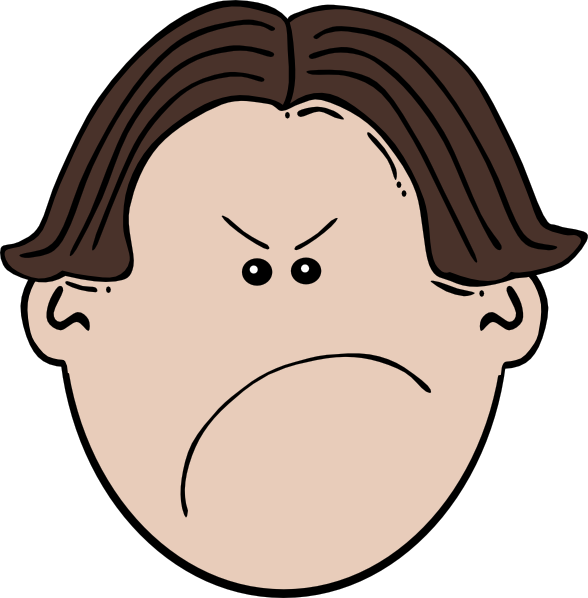 Surprise clipart frightened person. Angry brown boy clip