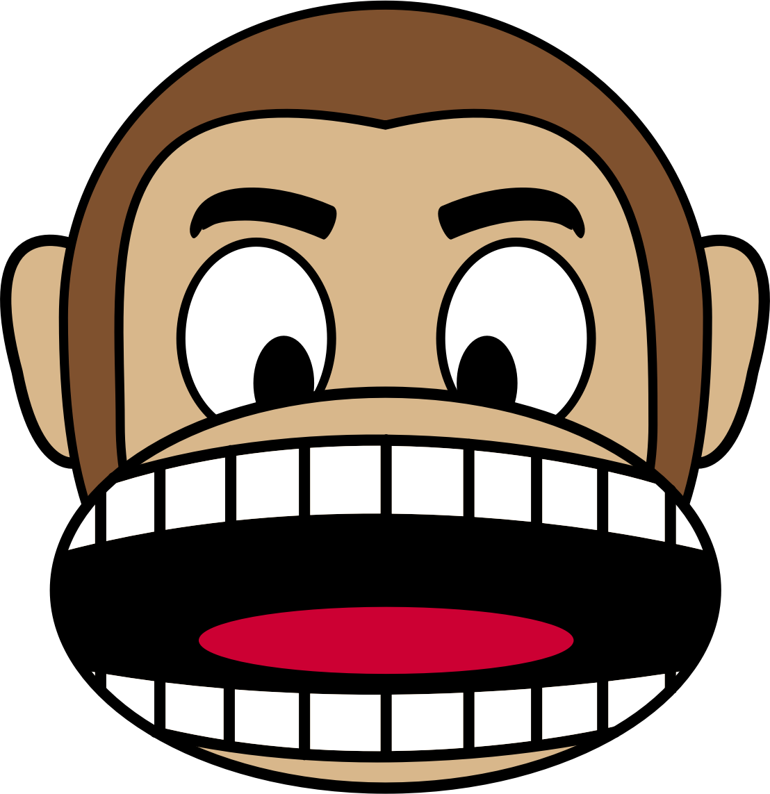 Big clipart open mouth. Monkey emoji angry image
