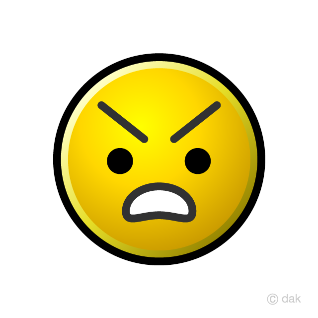 Angry clipart angry emoji. Free picture illustoon