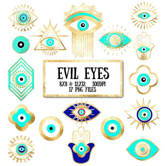 Clipart eyes third eye. Evil clip art gold