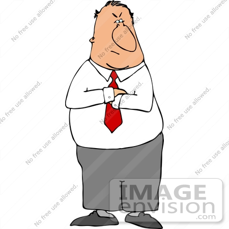 Angry clip art panda. Boss clipart mean person