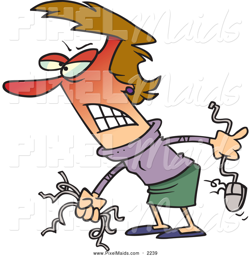 Anger clipart frustration. Of a frustrated angry