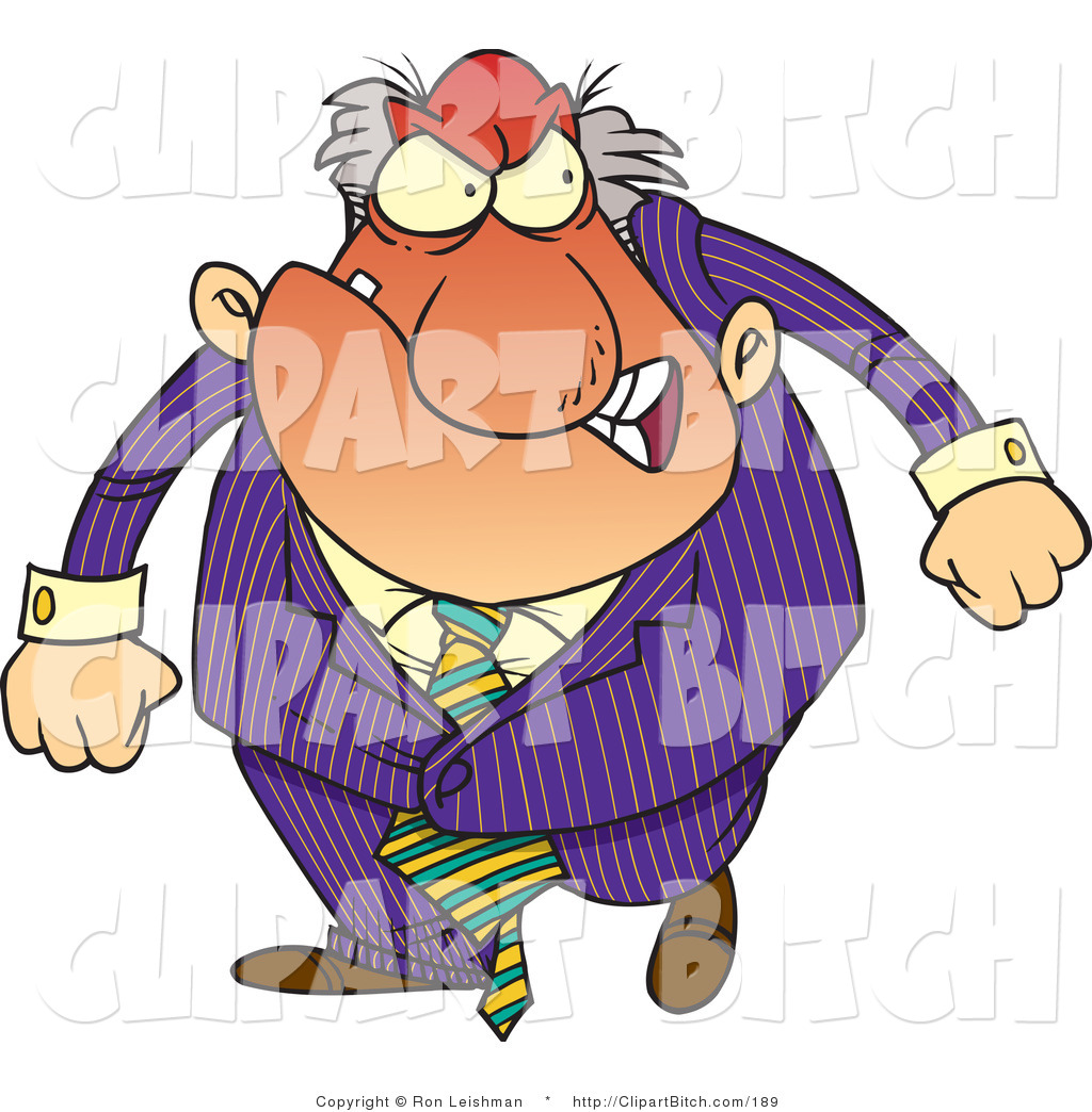 Clip art of a. Boss clipart boss man