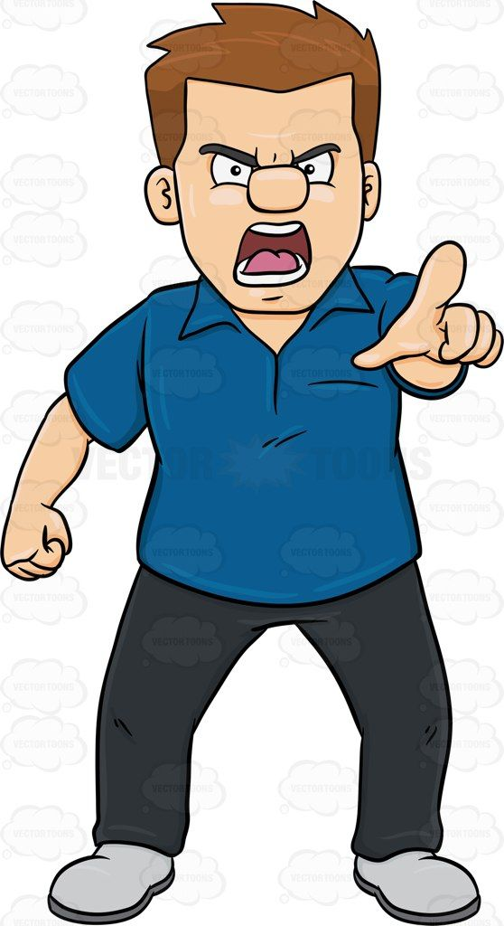 Angry clipart furious. A and raged man