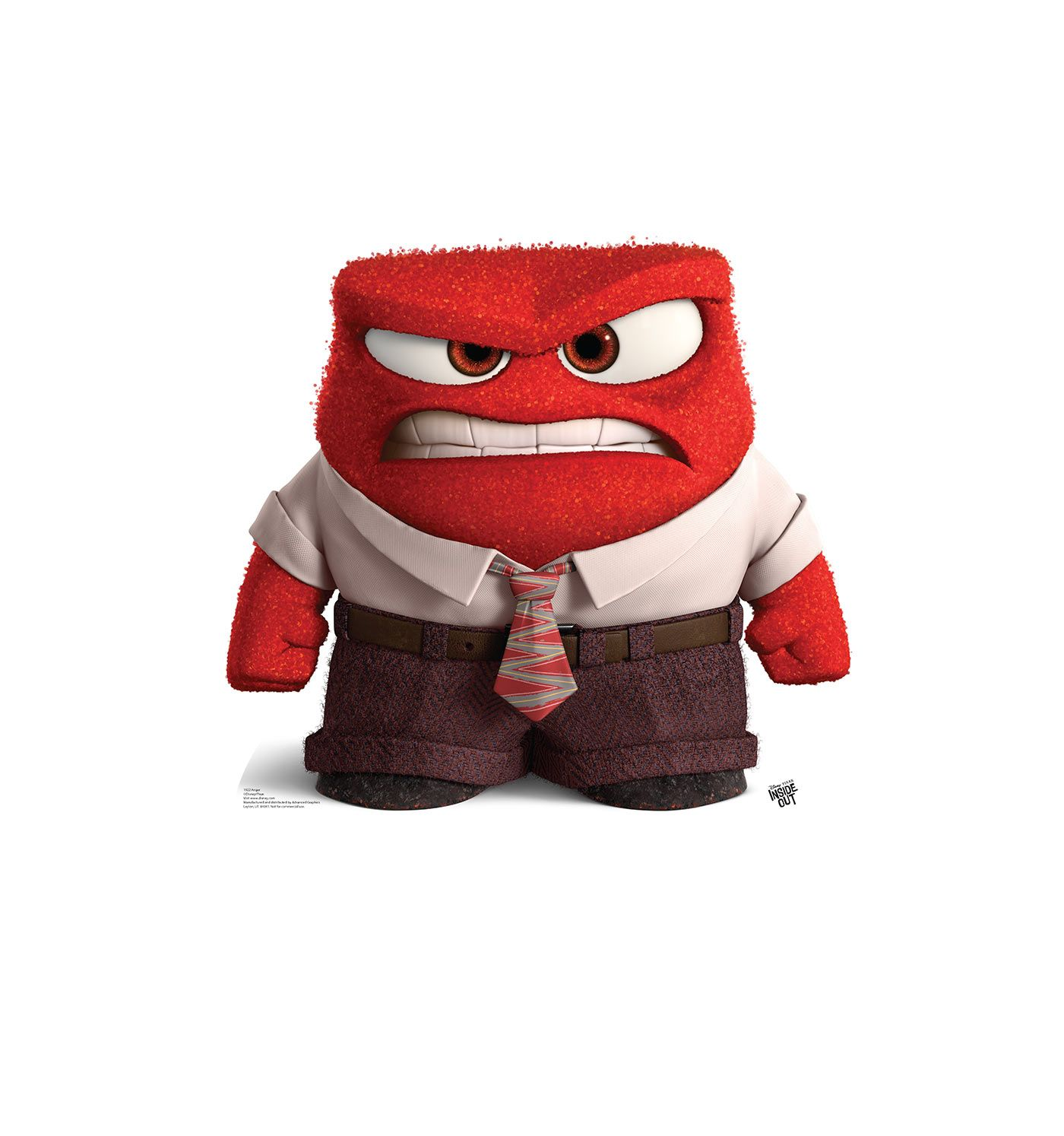 Anger clipart inside out. Cardboard cutout of from