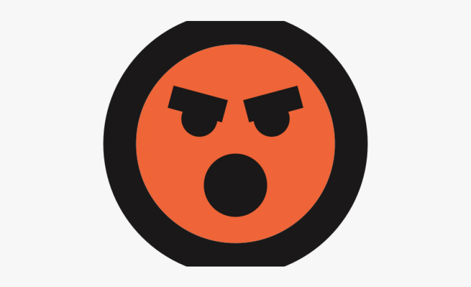 Angry emoji circle transparent. Anger clipart irate