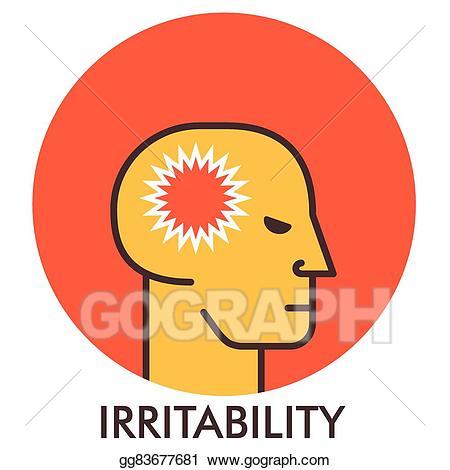 Anger clipart irritable. Vector art irritability thorn