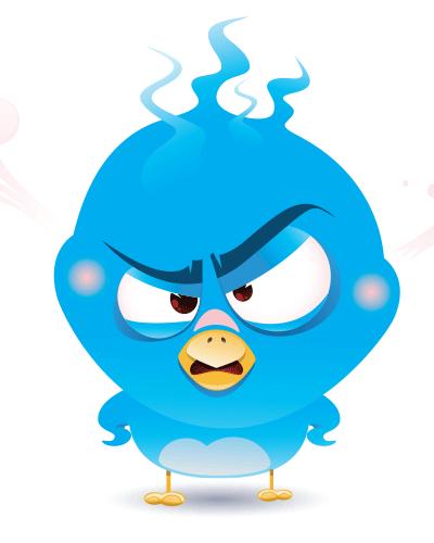 Bird smileys symbols emoticons. Anger clipart irritable
