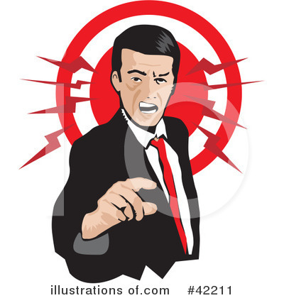 Anger clipart irritable. Illustration by david rey