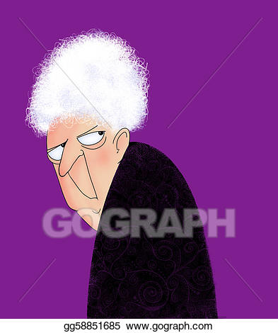 Anger clipart irritable. Angry old lady stock