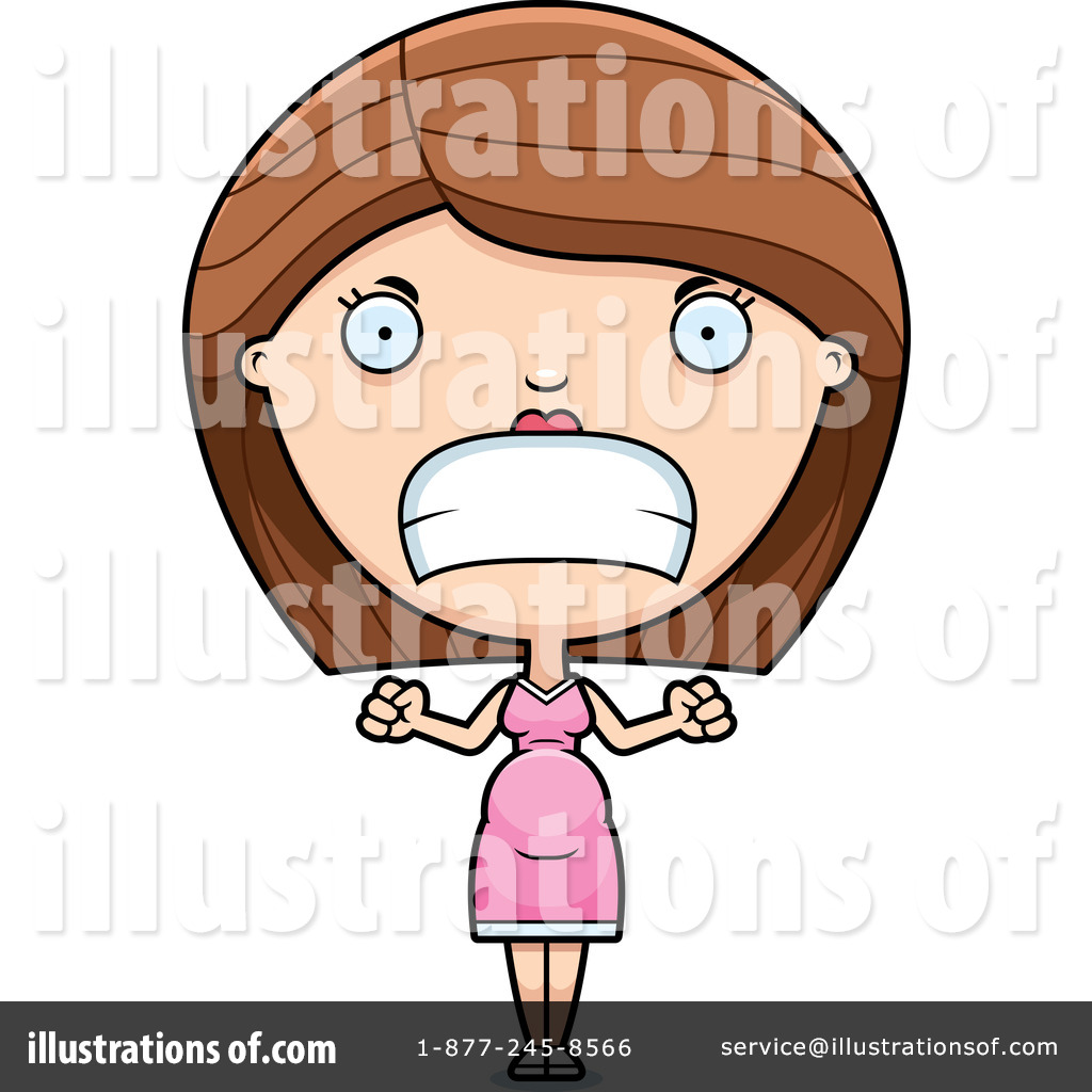 Anger clipart mad dad. Pregnant woman illustration by