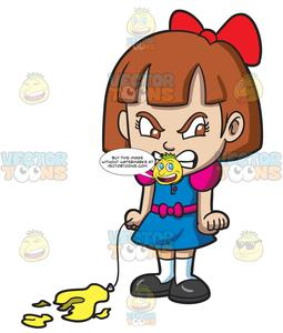 Mad clipart outraged. An angry little girl