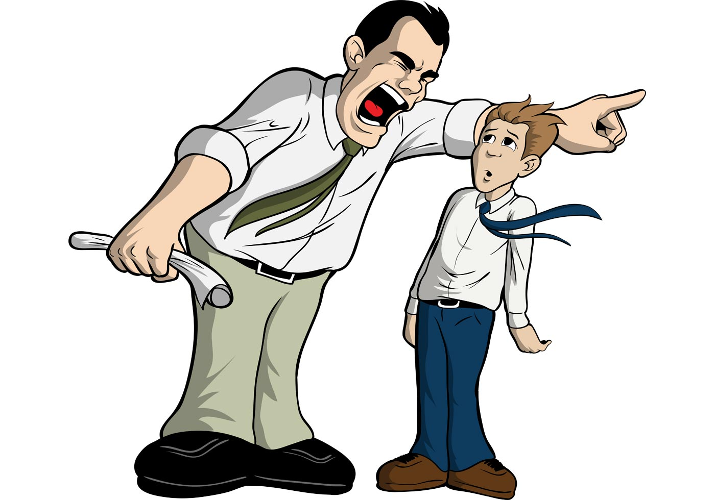 collection of angry. Boss clipart mean person