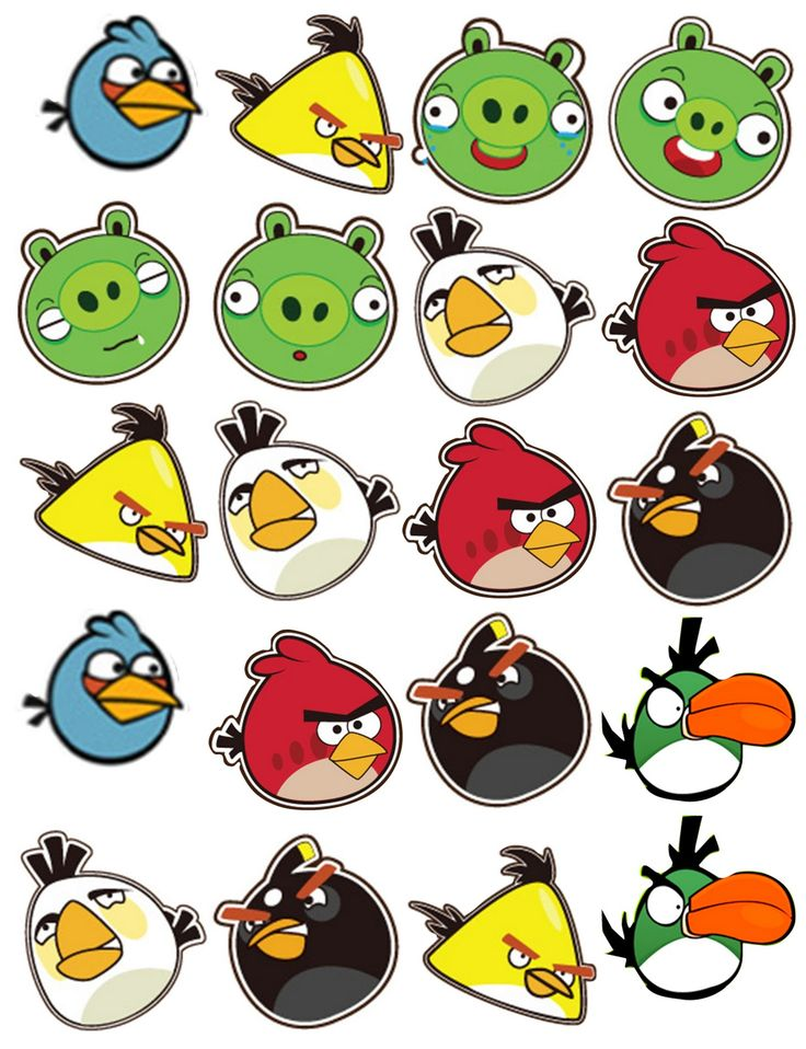 best angry birds. Anger clipart printable