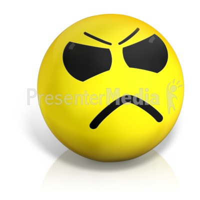 Emotion ball signs and. Angry clipart sad