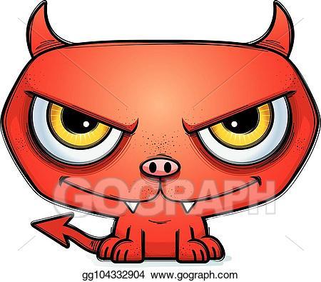 Anger clipart sinist. Vector sinister little cartoon