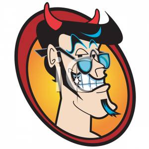 Anger clipart sinist. A sinister looking devil