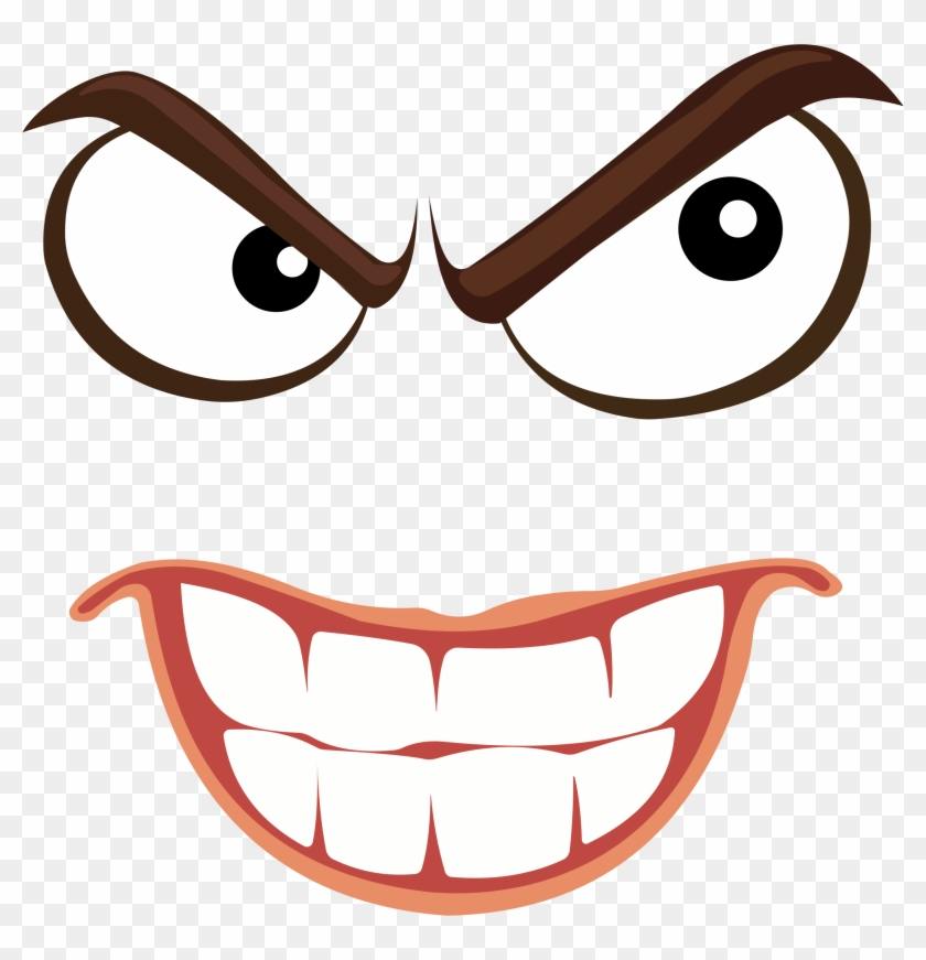 Anger clipart sinist. Sinister smiley face icons