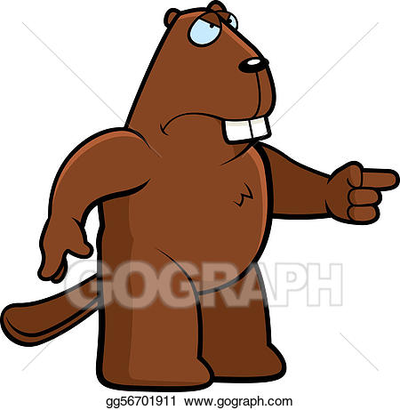 Vector art angry gg. Beaver clipart drawing