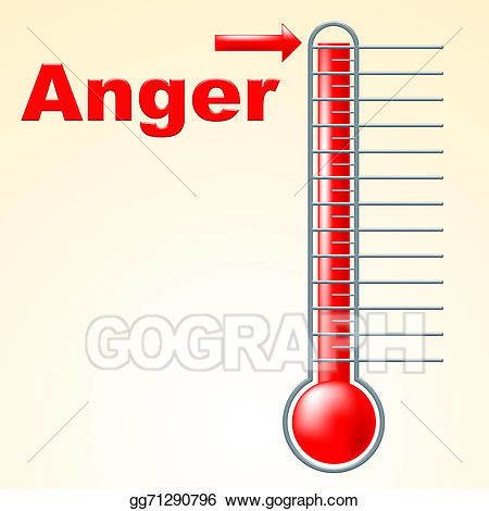Stock illustrations indicates cross. Anger clipart thermometer
