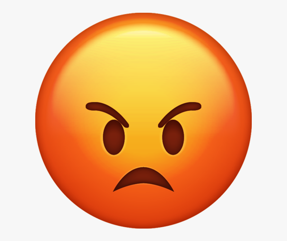 Angry clipart. Emoji iphone png free