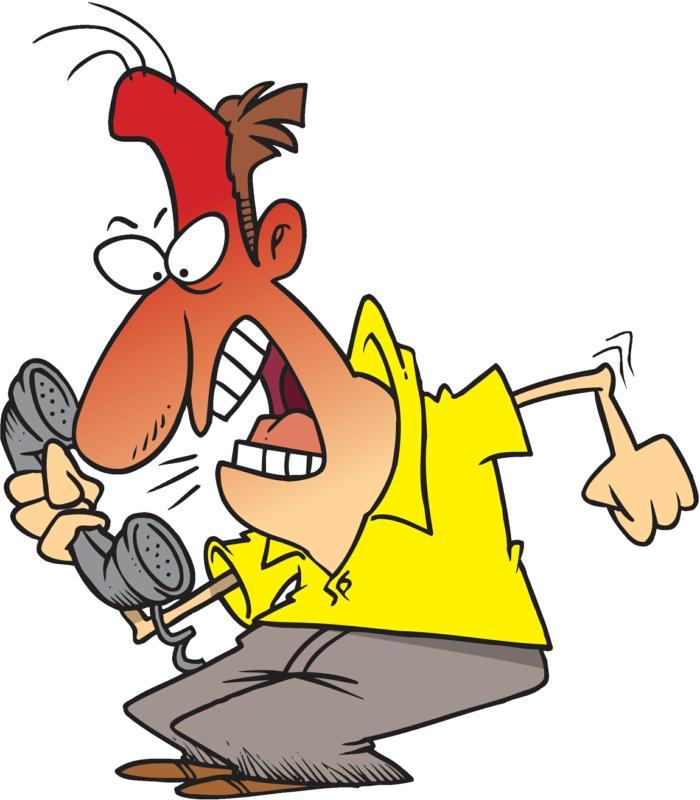 Caller . Angry clipart angry customer