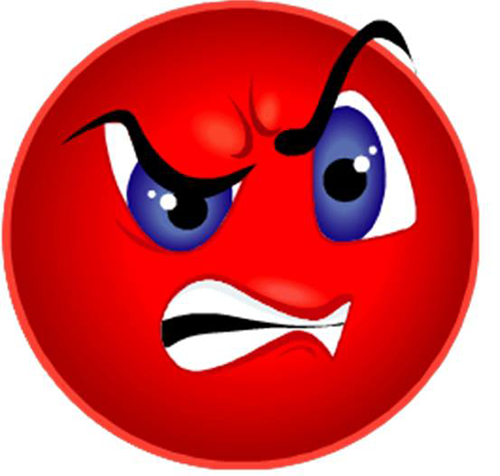 Smiley face and. Angry clipart angry emotion