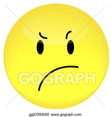 Stock illustration smiley face. Angry clipart angry expression
