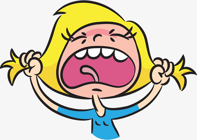 Little girl angrily material. Angry clipart angry expression