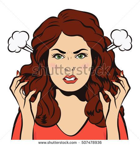 Angry clipart angry girl. Mood anger pencil and