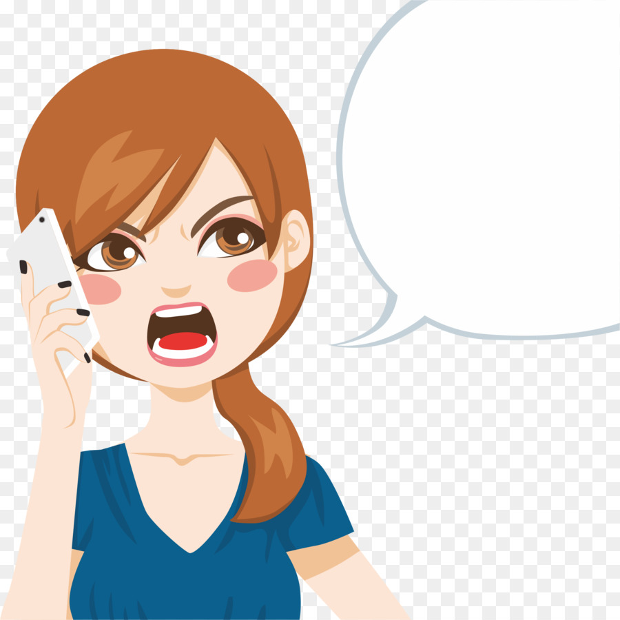 Cartoon telephone call royalty. Angry clipart angry lady