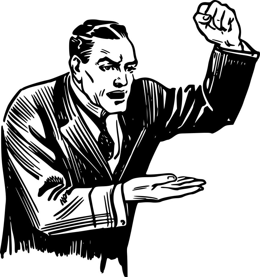 Angry clipart angry person. Man fist design droide