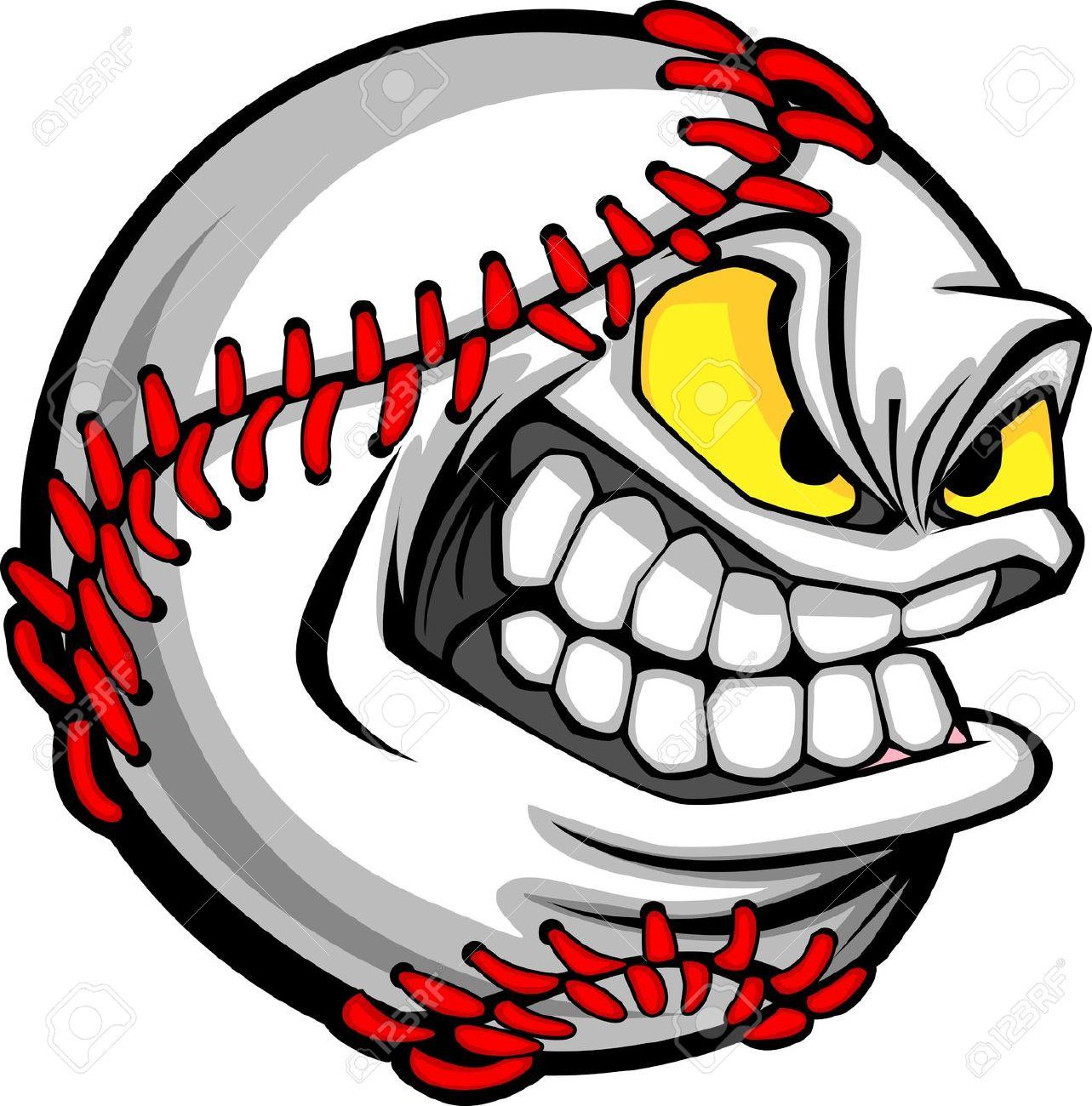 Angry clipart baseball. Ball