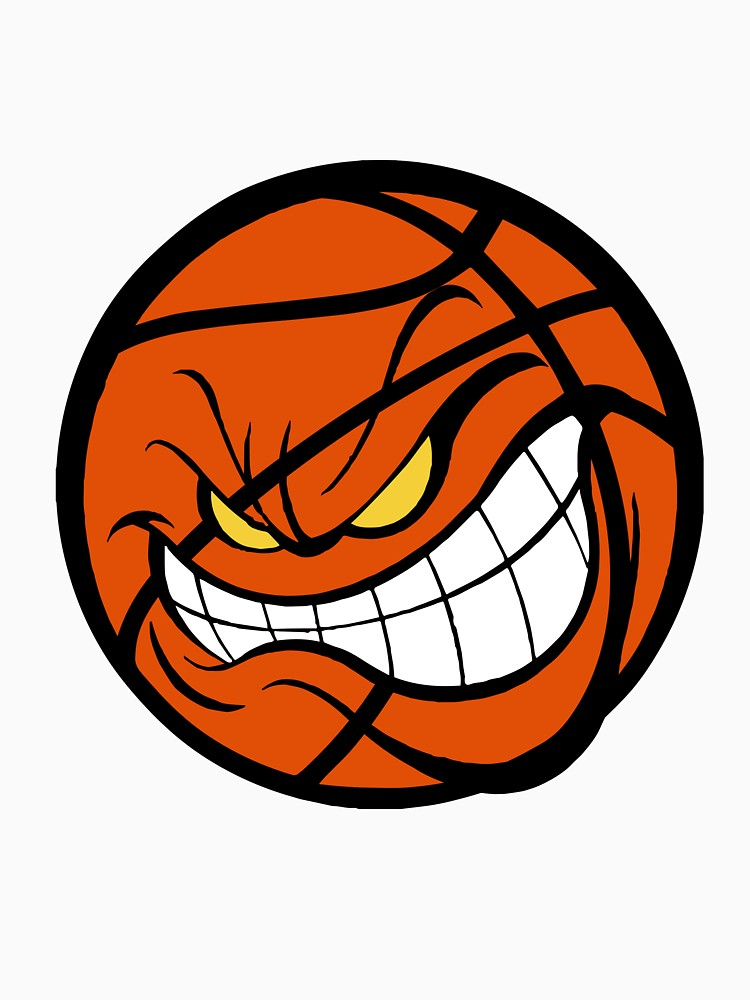 Print unisex t shirt. Angry clipart basketball