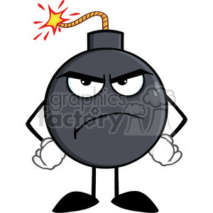 Royalty free rf illustration. Bomb clipart angry