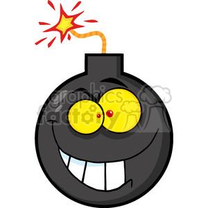 Royalty free cartoon character. Angry clipart bomb