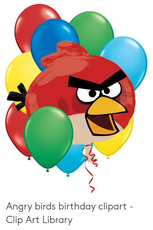 Birds birthday library . Angry clipart clip art