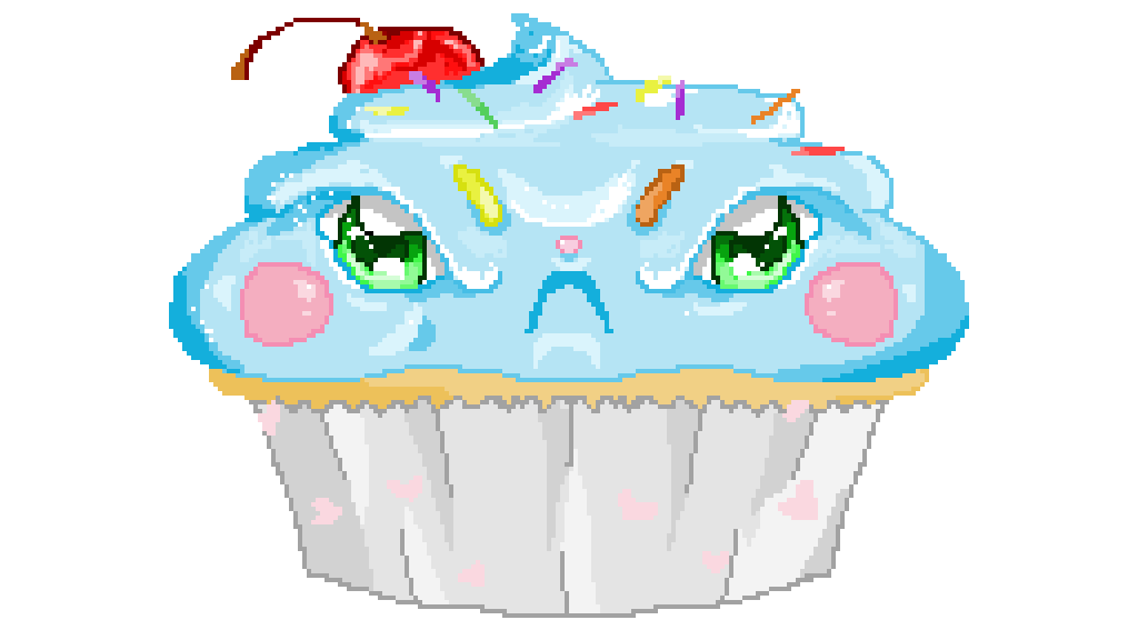 Angry clipart cupcake. Pixilart xd by nihilist