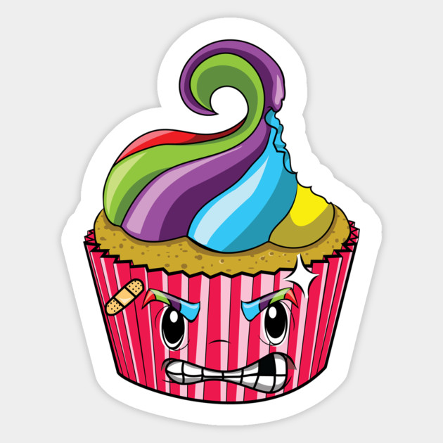 . Angry clipart cupcake