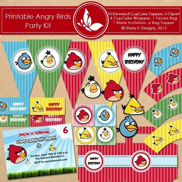 Angry clipart cupcake. Free printable bithday kit