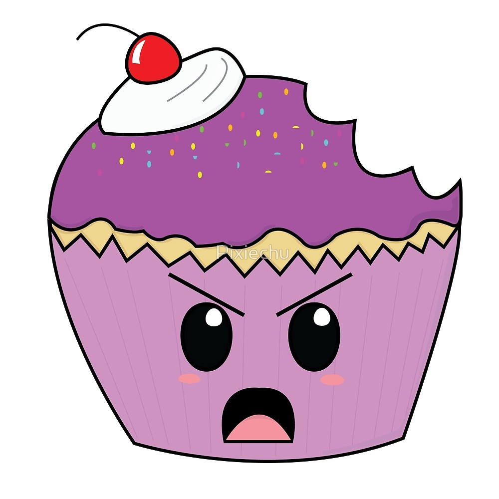 By pixiechu redbubble. Angry clipart cupcake